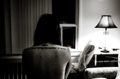 """Her tattoo reads, """"What goes around comes around"""".. I never asked her why."""