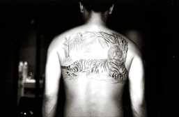 """One of Brad's first black and grey """"sketch"""" style tattoos. He points to this tattoo as the moment when he knew what style was his."""