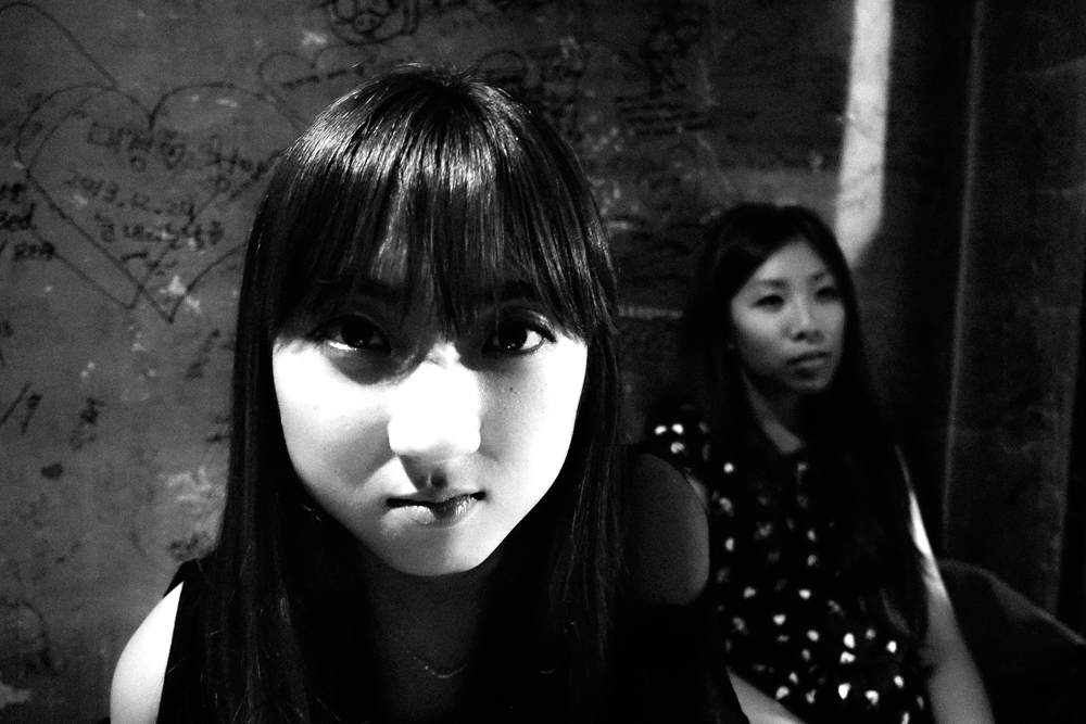 Areum and Cindy. Seoul, Korea.