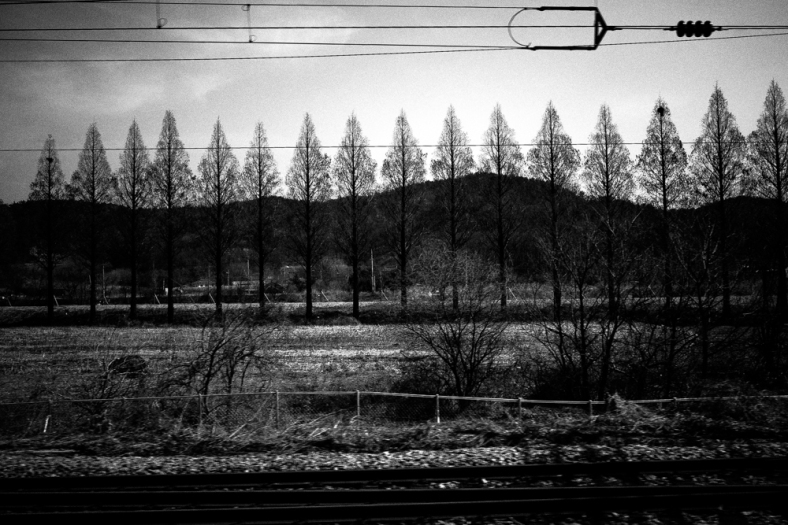 Somewhere in between Seoul and Busan. March 2015.